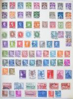 Világ gyűjtemény ~4.700 db bélyeg házi készítésű és előnyomott albumlapokon nagy, csavaros Schaubek borítóban