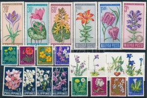 1959-1978 Virág motívum 3 klf sor + 8 db önálló érték
