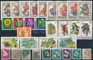 1960-1985 Virág motívum 3 klf sor + 14 db önálló érték