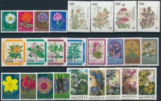 1963-1990 Virág motívum 5 klf sor + 4 db önálló érték