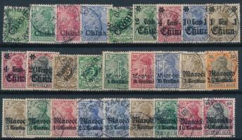 Német posta külföldön kis tétel: 53 klf bélyeg (Mi EUR ~192,-)
