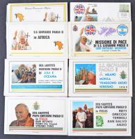 1982-1984 Pápa látogatások alkalmi borítékok 6 db csomagban