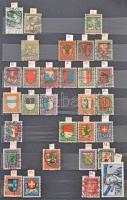Hiányos Pro Juventute gyűjtemény a kezdetektől 1982-ig + egyéb svájci és kevés román bélyeg, 10 lapos közepes berakóban