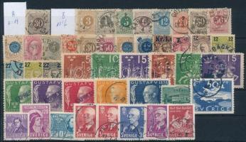Svéd kis tétel: 45 klf régi bélyeg (Mi EUR ~219,-)