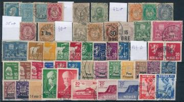 Norvég kis tétel: 52 klf régi bélyeg (Mi EUR ~264,-)