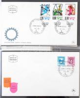 Izrael FDC gyűjtemény 1949-től a 80-as évek közepéig, 4 db levélberakóban