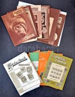 Filatéliai szemle 50-90-es évek kiadványai, összesen 81 szám, dobozban