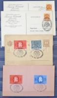 Magyar alkalmi bélyegzés tétel a 40-es évekből 4 lapos berakóban