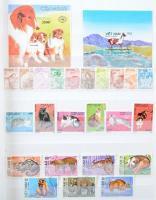 Vietnam gyűjtemény, benne képes motívum bélyegek 4 és 8 lapos berakóban