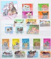 Nicaragua gyűjtemény motívum kiadásokkal 8 lapos A/4 berakóban