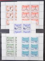 Sharjah gyűjtemény, benne összefüggések, blokkok, kevés Szahara és algériai bélyeg 4 lapos A/4 berakóban