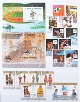 Sao Tome et Principe szép gyűjtemény, benne sorok, blokkok 8 lapos berakóban