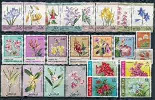 1969-1985 Flower 5 sets, 1969-1985 Virág motívum 5 klf sor