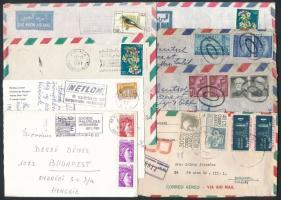 61 db külföldi küldemény, közte több USA és argentín
