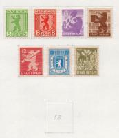 Németország - szovjet zóna 1945-1949 összeállítás 8 db előrajzolt albumlapon