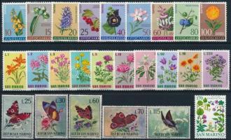 1961-1977 Virág motívum 3 klf sor + 1 db önálló érték