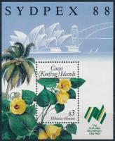 Nemzetközi bélyegkiállítás SYDPEX '88, Sydney; Virág blokk International Stamp Exhibition '88 SYDPEX, Sydney; Flower block