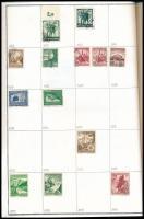 Deutsches Reich gyűjtemény, benne 890 db klf bélyeg 1872-től házi készítésű A4-es füzetben