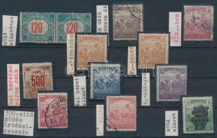 1916-1920 12 klf lemezhiba Aratós bélyegeken