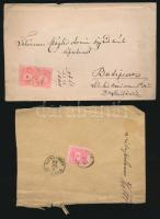 5 db levél Színesszámú 5kr + 1 db 2x5kr bérmentesítéssel
