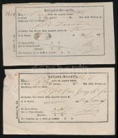 1856-1860 3 db feladóvevény