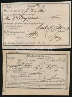 1849-1873 3 db feladóvevény