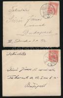 5 db levél a Turul időszakból + 5 db Centenáriumi bélyegekkel