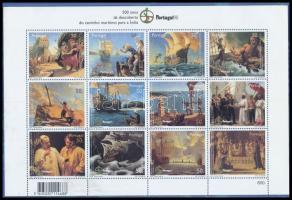 Portugália 1998 PORTUGAL´98 bélyegkiállítás, Vasco da Gama III. kisív Mi 2299+2303-2313 + Portugál Madeira 1990-1992 Gyümölcs 3 db sor Mi 135-138, 149-152,153-156 2 db tokban