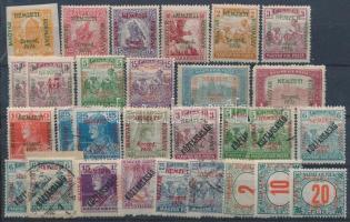 Kis megszállási tétel, 29 db bélyeg stecklapon