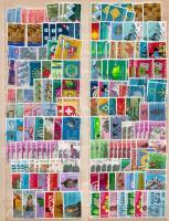Svájc, Liechtenstein pár száz db bélyeg duplákkal, közte Pro Juventure és Pro Pátria sorok 2 db A4-es berakólapon