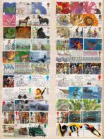 Anglia összeállítás 300 db modern bélyeg 3 db nagyalakú berakólapon + 1 db cserefüzet régi, klasszikus és jobb értékekkel