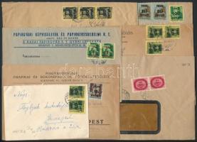 1945-1946 9 db inflációs levél, érdekes tétel