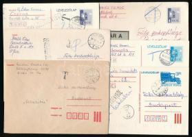 1980-1988 8 db levelezőlap, portózott levél