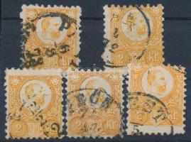 1871 Réznyomat 5 x 2kr (7.500)