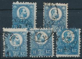 1871 Réznyomat 5 x 10kr (min. 6.500)