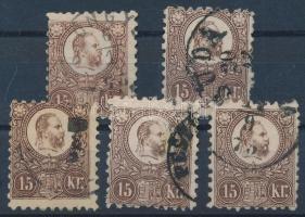 1871 Réznyomat 5 x 15kr (min 8.500)