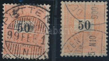 1898 2 db 50kr 12 : 11 3/4 fogazással (10.000)