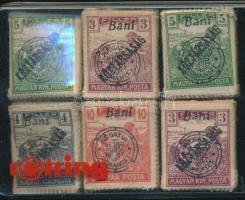 Nagyvárad 1919 6 db bündli, lemezhibákra nem vizsgált anyag; garancia nélkül