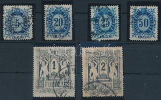 1874 Távírda sor, 10kr és 40kr nélkül (14.200)