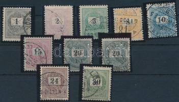 1889-1899 10 klf Feketeszámú krajcáros bélyeg 12 : 11 3/4 fogazással (5.500)