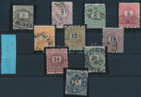 1888-1889 3 sztereo és 7 elektro érték (31.000)