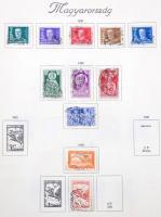 Magyar alapgyűjtemény 1881-1942-ig, teljesebb 20-as, 30-as évek résszel Turul előnyomott albumban