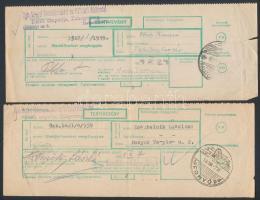 1958-1965 4 db tértivevény balatoni alkalmi bélyegzéssel