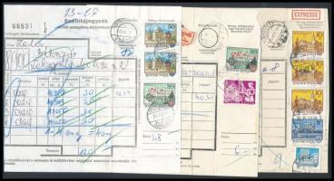 1976-1986 3 db szállítólevél magas bérmentesítésekkel