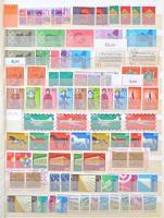 NSZK postatiszta-pecsételt párhuzamos gyűjtemény 1945-1983, több bélyeg betapadt, de szétválasztható 16 lapos, A4-es berakóban (Mi EUR ~1.500.-)