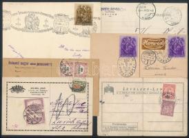 1900-1946 15 db klf levelezőlap (portós, készpénz bérmentesítésű is)