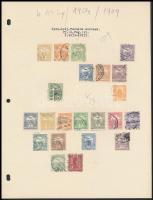 1900-1909 Turul vízjelállás speciális gyűjtemény 8 db A4-es lapon