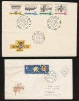 1959-1977 4 db levél vágott bélyegekkel, közte FDC és emlékbélyegzés (12.500)
