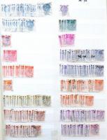 Olasz többpéldányos rendező régi és modernebb bélyegekkel, közte sok forgalmi 8 lapos, A4-es berakóban