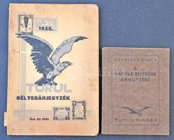 1938 Turul bélyegárjegyzék + 1945 Madarász bélyegkatalógus